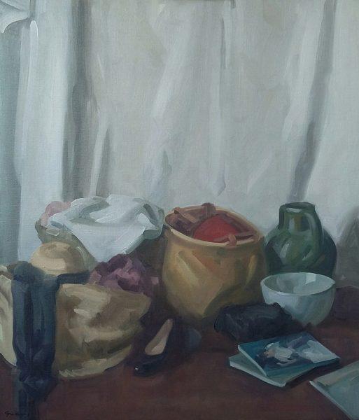 Antony Bream - Still Life with Green Jug - Oil - 44 x 38 in