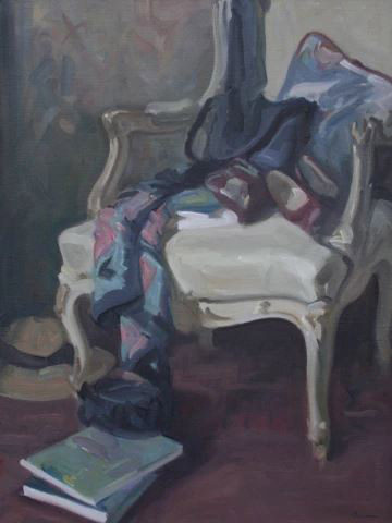 Antony Bream - The French Chair - Oil - 36 x 28 in