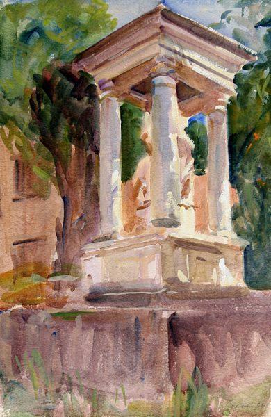 Antony Bream - Shrine, St Victor, Uzes - Watercolour - 22 x 15 in