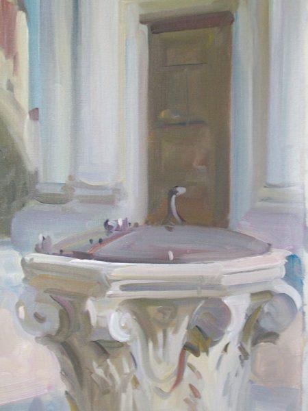 Antony Bream - Campo della Maddalena, Cannaregio - Oil - 20 x 16 in