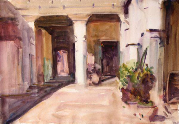 Antony Bream - Andalusian Caravanseri II, Marrakesh - Watercolour - 15 x 22 in