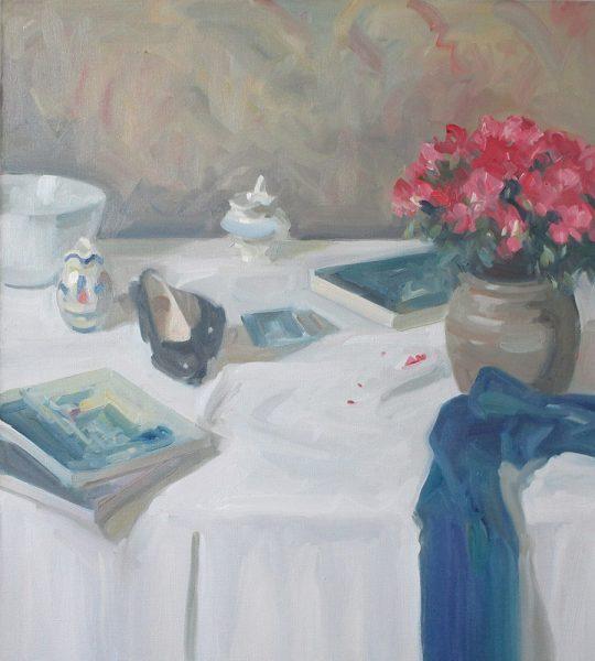 Antony Bream - Still life with Azaleas - Oil - 32 x 28 in