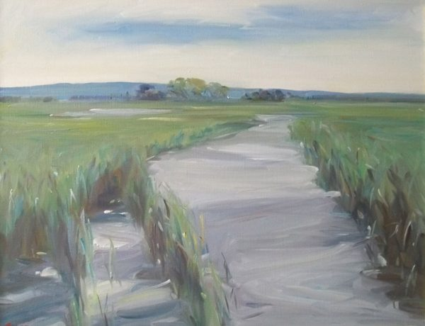 Antony Bream - Ham Marsh, Faversham, late Spring - Oil - 28 x 36 in