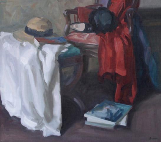 Antony Bream - The Red Coat - Oil - 32 x 36 in