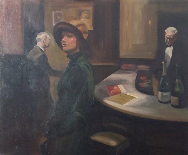 Antony Bream - Green's Champagne Bar, St James's - Oil - 48 x 56 in