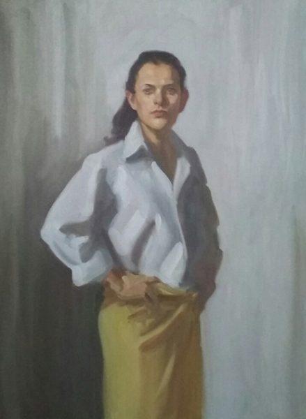 Antony Bream - Erika - Oil - 48 x 36 in